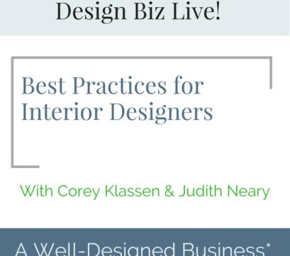 312: Design Biz Live: Best Practices for Profitability